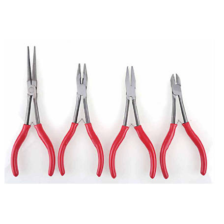 Olympia 4 Piece Mini Long Reach Pliers, 8 in., 703-314-101