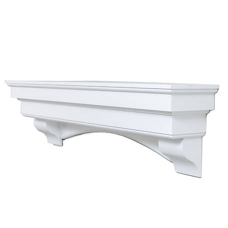 Ashley Traditional Hearth Mantel in White