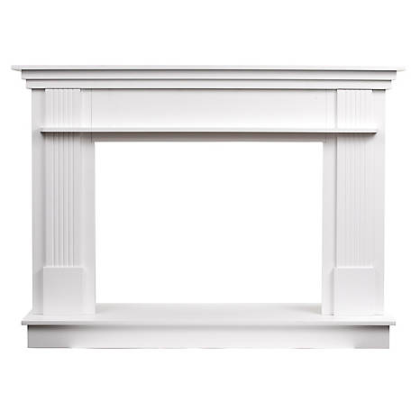 Ashley Freestanding Wood Mantel White Ashfsmk W At Tractor Supply Co