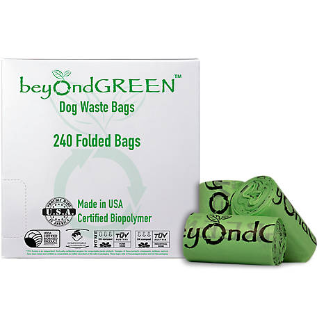 bioDOGradable Bags Compostable Dog Poop Bags, Leash Dispenser Refill Rolls, 240 ct., 2016240