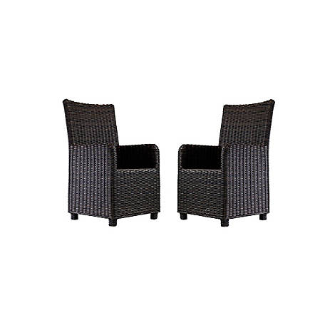 Ashley Wicker Chairs for Fire Pit Table, Set of 2