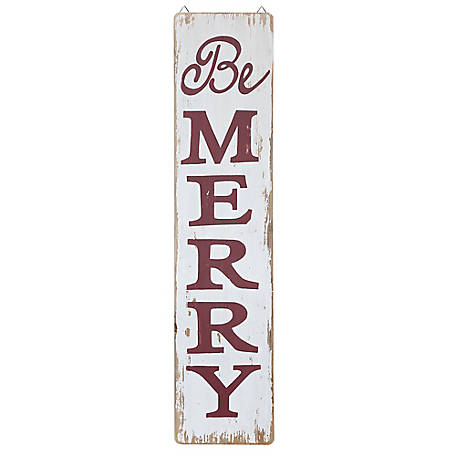 Red Shed Tall Be Merry Sign, JFT17195B
