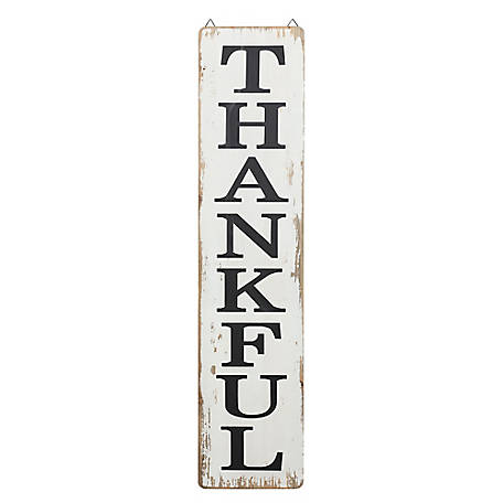 Red Shed Tall Thankful Sign, JFT200704