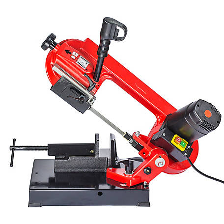 General International 4 in. Universal Cutting Band Saw Cast Iron Head with Steel Stand and Wheels - BS5202