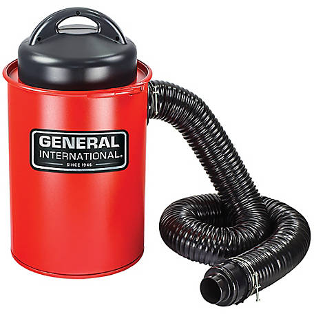 General International 2-in-1 9.2A Portable 13 gal. Dust Collector with Metal Dust Collection Drum & Wall Mount, BT8008