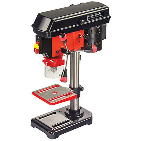 General International 8 in. 5 Speed Drill Press with Cross Pattern Laser - DP2001
