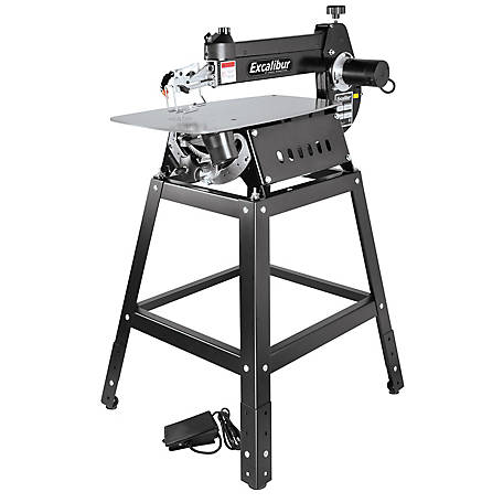 Excalibur 21 in. Tilting Head Scroll Saw with Foot Switch & Solid Steel Stand, EX-21K