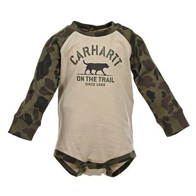 6M Carhartt Baby Boys Long Sleeve Bodyshirt Dog Grey