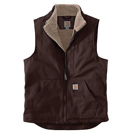 Carhartt Mens   Sherpa-Lined  Mock-Neck Vest