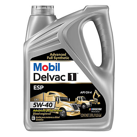 Mobil Delvac 1 ESP Heavy Duty Full Synthetic Diesel Engine Oil 5W-40, 1 gal., 122271