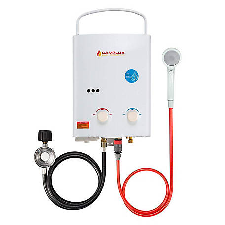 Camplux Enjoy Outdoor Life 5 L 1.32 GPM Portable Tankless Water Heater, AY132