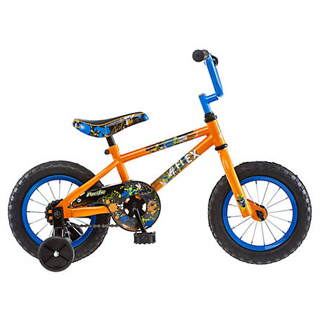 Pacific Boy's Flex 12 in. Bicycle, Orange, 124034PD