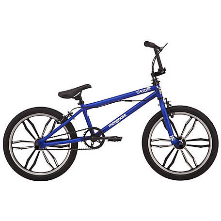 Mongoose Boy's Grid Mag 20 in. Freestyle Bicycle, Blue, R1010