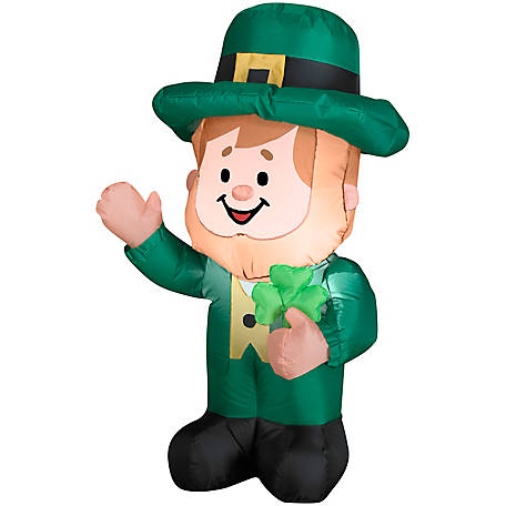 Gemmy 3 1/2 ft. Airblown Inflatable Leprechaun, G-34401