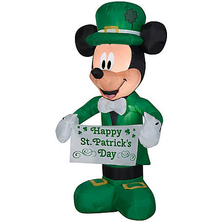 Gemmy Airblown St. Patricks Day Mickey, G-445259