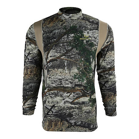 Mossy Oak Men's Kenai Base Layer Long Sleeve Shirt, MTBL001