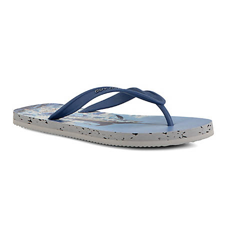 GUY HARVEY Men's Cayman Marlin Flip Flop, GHMCAYMAFR