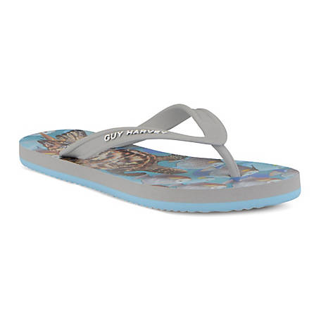 GUY HARVEY Women's Cayman Tortuga Flip Flops, GHWCAYMATR