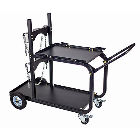 Metal Man Single/Dual Bottle HD Weld Cart with Handle, UWC4