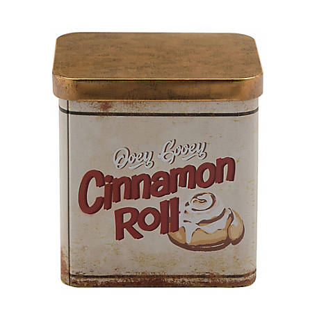 Red Shed Cinnamon Roll Scented Candle in Tin Container