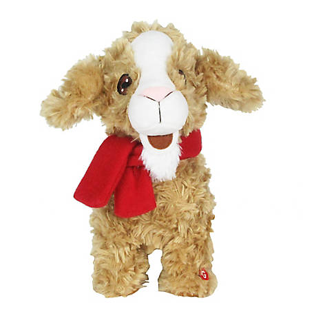 Gemmy Jingle Jiggle-Yoga Goat-Brown Curly, 118482