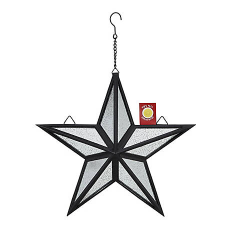 Red Shed Light-Up Star Wall Hanger