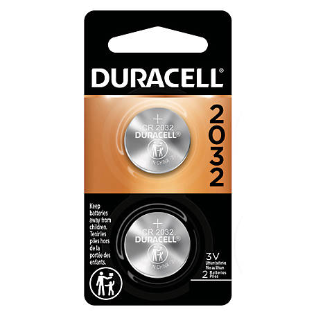 Duracell DL2032 3V Coin Cell, 2 Pack, DL2032B2PK