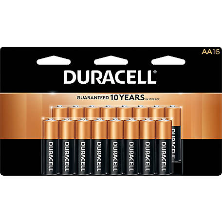 Duracell Coppertop AA Battery, 16-Pack, MN1500B16