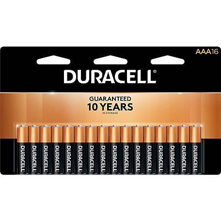 Duracell Coppertop AAA, 16-Pack, MN24B16