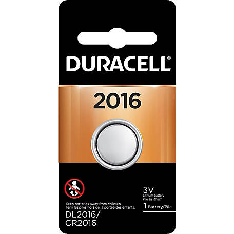 Duracell DL2016 3V Lithium Coin Cell, DL2016BPK