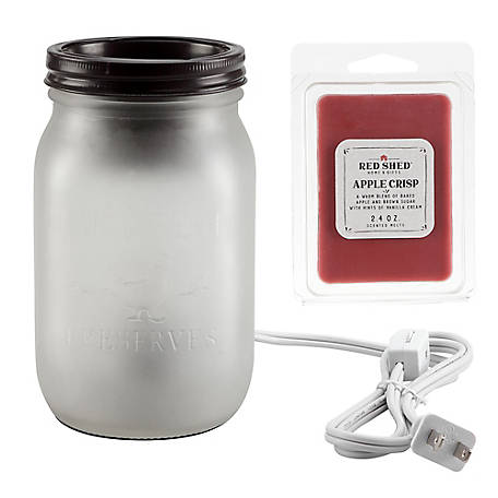 Red Shed Semi Opaque Jar Warmer, SH-002-10DV