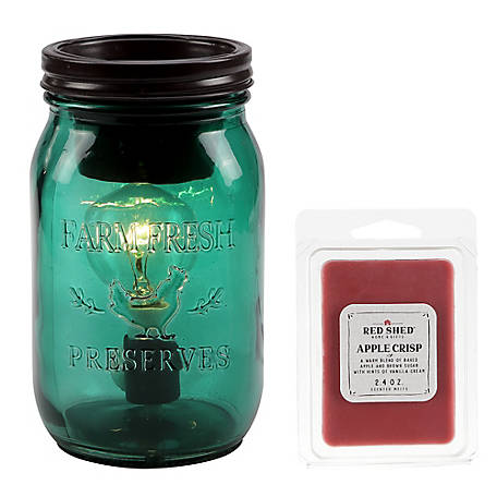 Red Shed Green Jar Warmer, SH-002-10DW