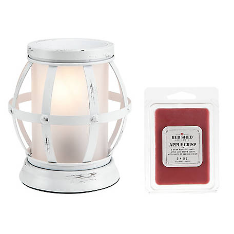Red Shed White Metal Lantern Warmer, SH-003-10BC