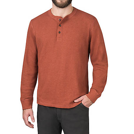 The American Outdoorsman Men's Waffle Thermal Henley Shirt, Long Sleeve  Pullover, ECOF9D3191 at Tractor Supply Co.
