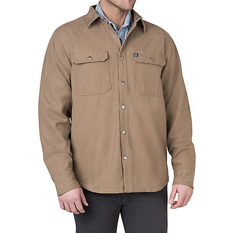 The American Outdoorsman Men's Canvas Shirt Jacket, ECOF9H0948