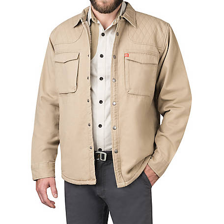 The American Outdoorsman Men's Twill Shirt Jacket, ECOF9H4144
