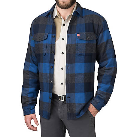 The American Outdoorsman Men's Fleece Lined Flannel Shirt, ECOF9H4174