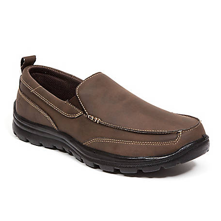 Deer Stags Men's Everest Memory Foam Dress Comfort Casual Slip-On Loafer, EVRST-CRVG-BRN-M-10