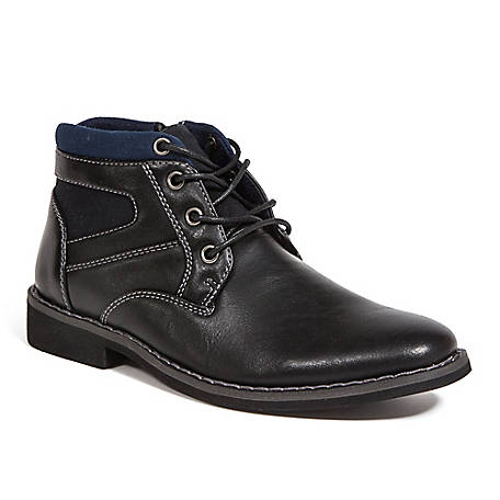 Deer Stags Boy's Irvine Jr. Lightweight Memory Foam Dress Comfort Casual Fashion Chukka Boot