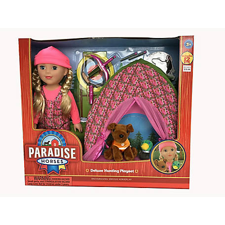 Paradise Horses 18 in. Doll Hunting Set, TSC0216