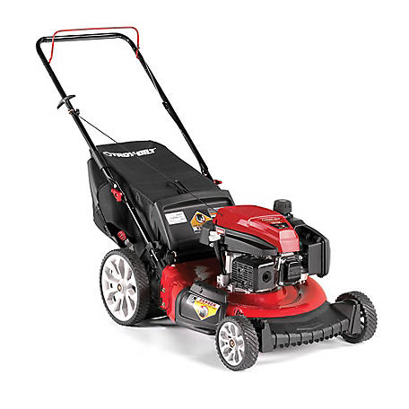Troy-Bilt TB130 Check, Don't Change 159CC Engine, 21-in High Wheel Push Mower with Rear Bag, 11A-B2MR766