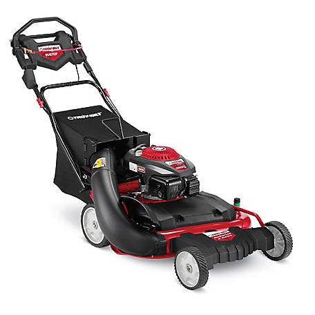 Troy-Bilt TB WC28 190cc, 28-in High Wheel Self-Propelled Mower with Rear Wheel Drive, Rear Bag, 12ABW32G766