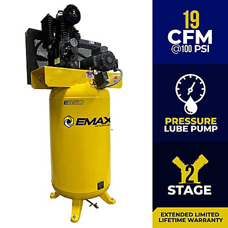 EMAX 5 HP 80 gal. Industrial Air Compressor, EI05V080I1