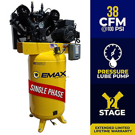 EMAX 10 HP 80 Gal Industrial Air Compressor, EI10V080V1