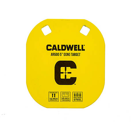 Caldwell High Caliber AR500 5 in. Gong Steel Target for Shooting, 1133532