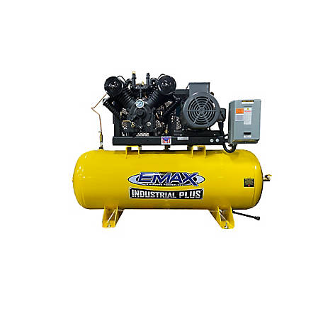 EMAX 7.5 HP 80 gal. Single Phase Plus Horizontal Compressor, EP07H080V1