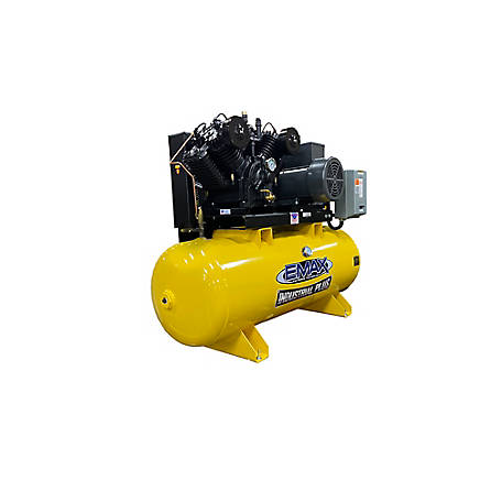 EMAX 7.5 HP 80 gal. 3 Phase Plus Horizontal Compressor, EP07H080V3