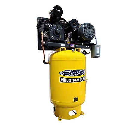 EMAX 10 HP 120 gal. 3 Phase 3 Cycle Air Compressor, EP10V120Y3, EP10V120Y3