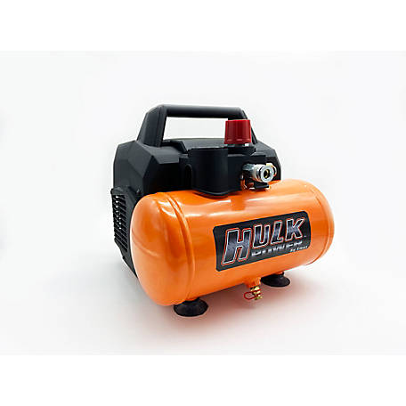 Hulk Power by EMAX 1 HP 2 gal. Silent Air Compressor, HP01P002SS