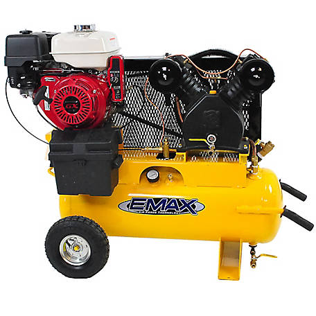 EMAX 8 HP 17 gal. Honda Gas Air Compressor, EGES0817WL